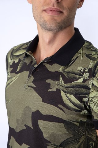 Polo Estampa Camuflada Solft Flowers na internet