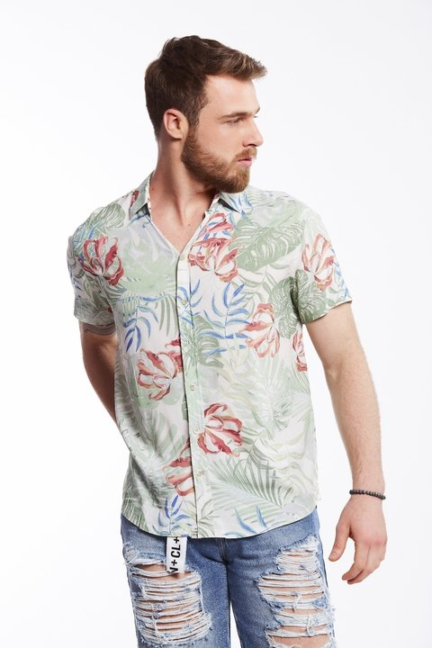 Camisa Estampada Resort