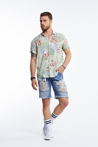 Camisa Estampada Resort na internet