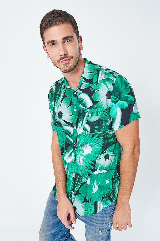 Camisa Resort Estampa Floral