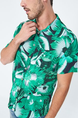 Camisa Resort Estampa Floral na internet