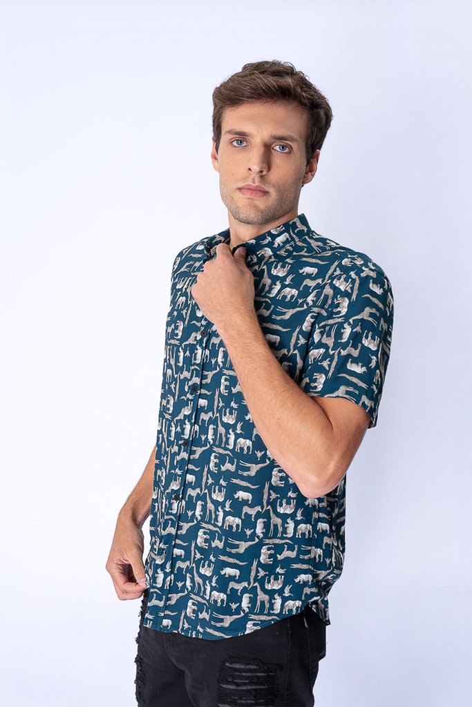Camisa Estampada Safari