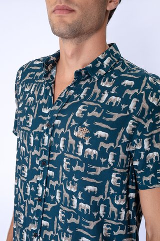 Camisa Estampada Safari na internet