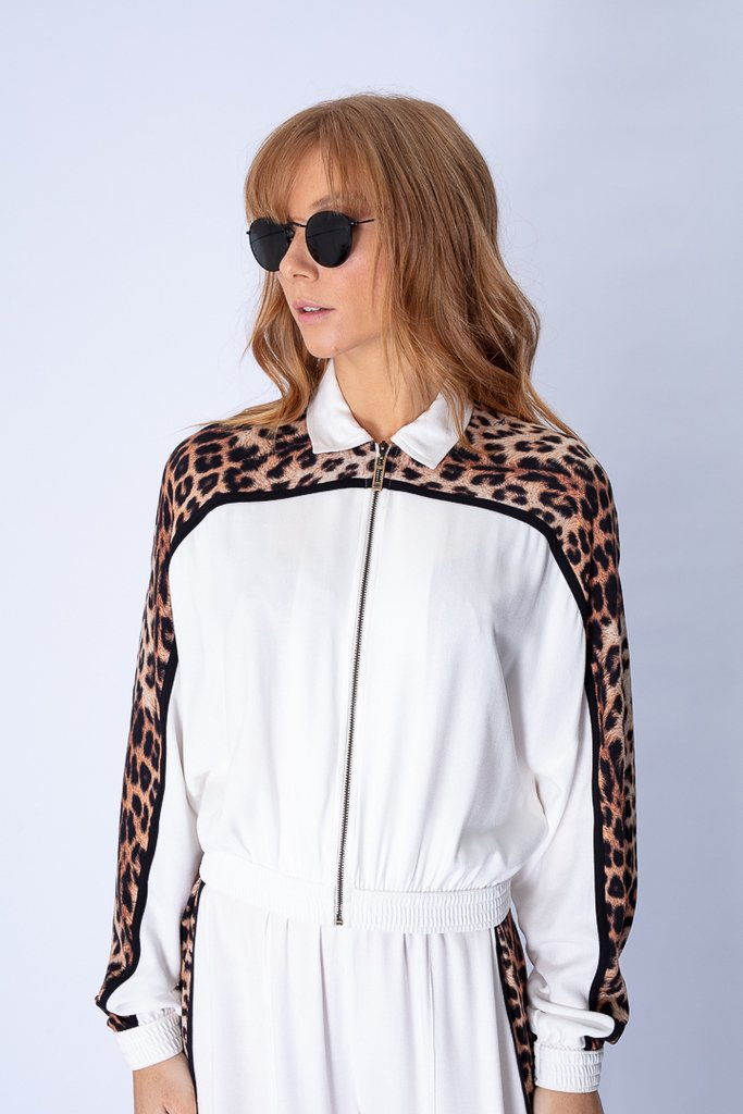 Jaqueta Bomber Estampa Animal Print