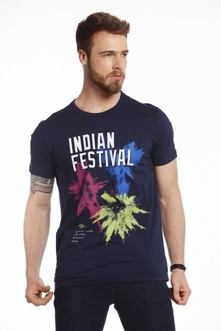 Camiseta Estampada Indian Festival