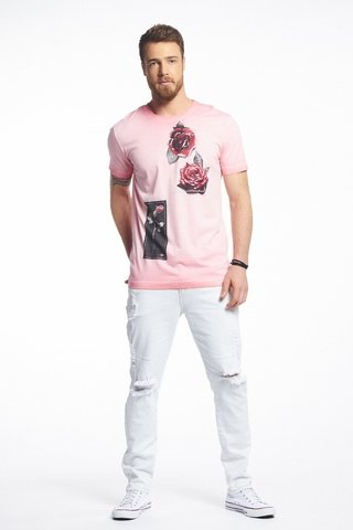 Camiseta Estampada Rose na internet