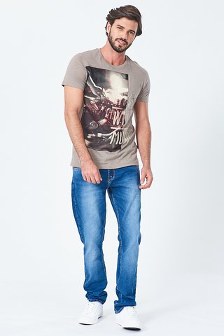 Camiseta Estampa Live With Music - comprar online