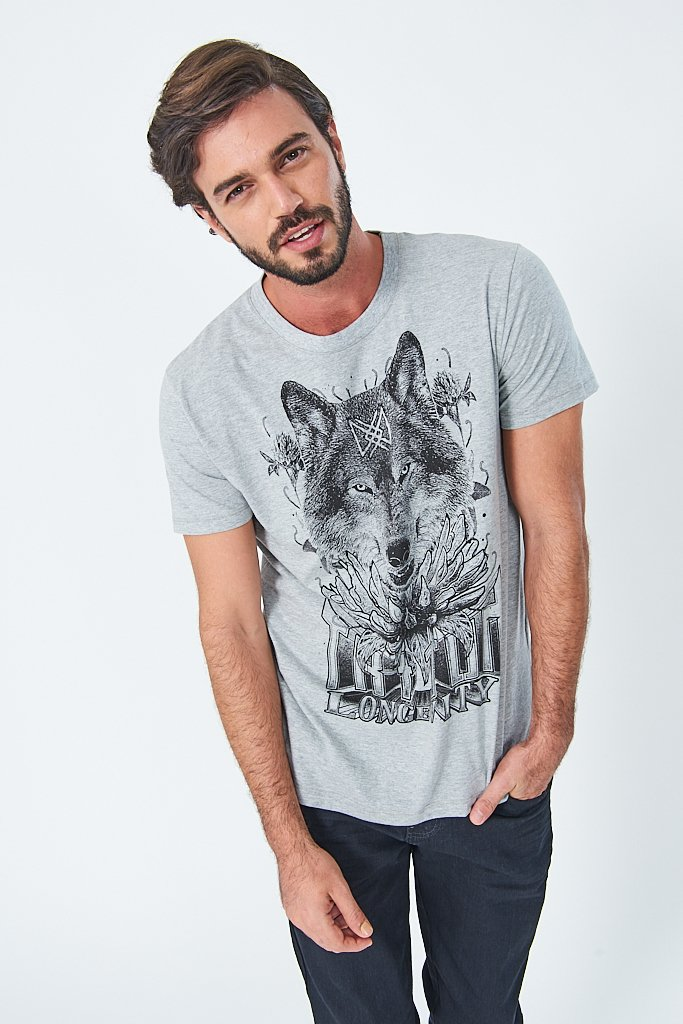 Camiseta Estampa Lobo