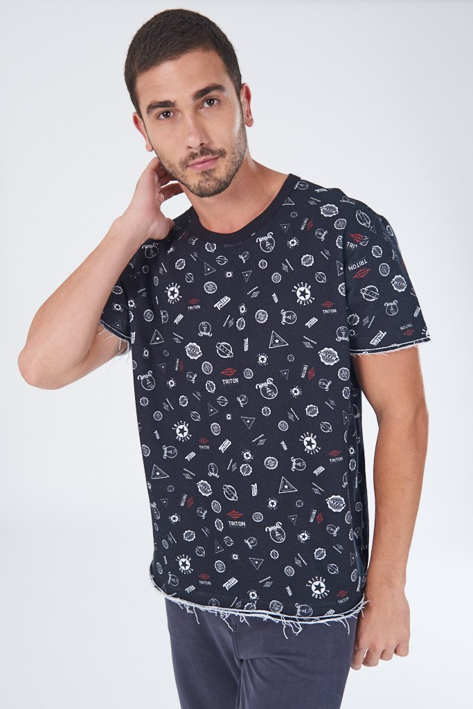 Camiseta Moletom Estampada