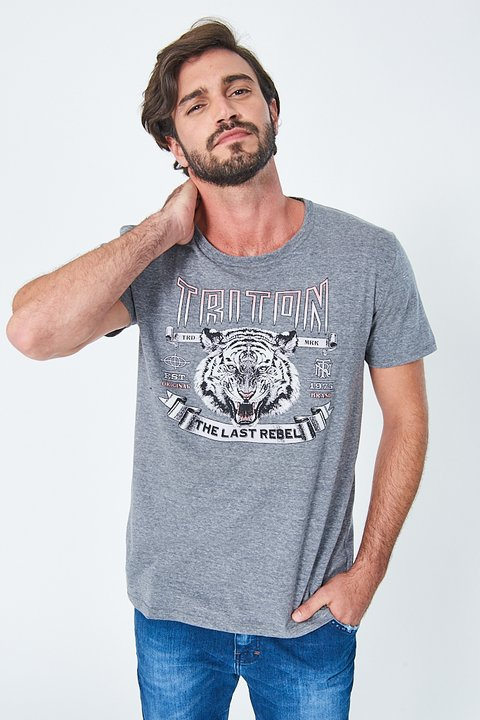 Camiseta Estampa Tigre