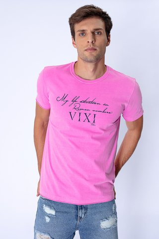 Camiseta Estampada Roman Numbers