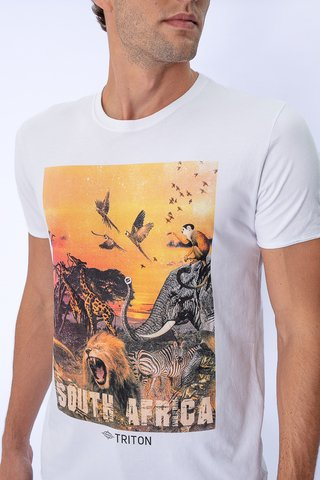 Camiseta Estampa South Africa na internet