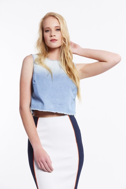 Blusa Jeans Cropped