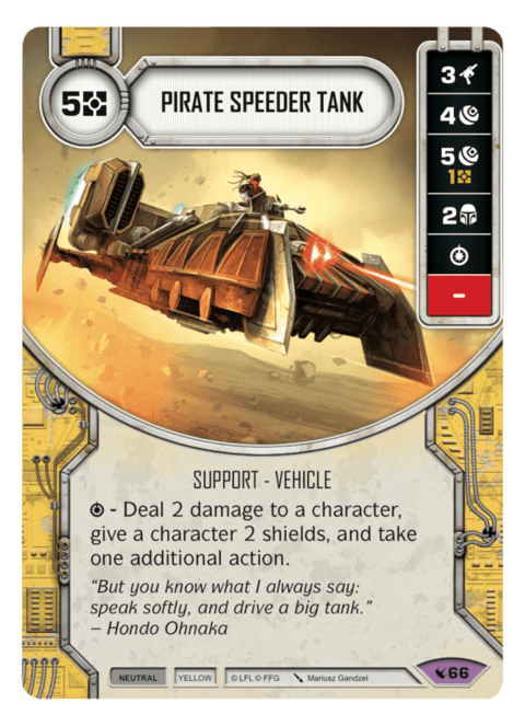 Pirate Speeder Tank / Tanque Speeder Pirata