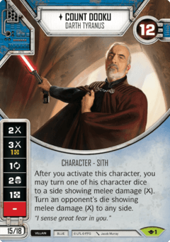 Count Dooku - Darth Tyranus / Conde Dookan
