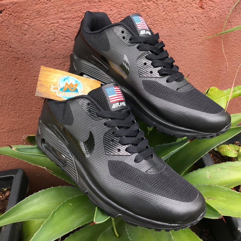 b9e9e6d8eb7 NIKE AIR MAX 90 INDEPENDENCE DAY PRETO - Am Importados