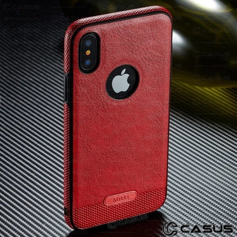 Funda Case Fino Apple iPhone X Slim Olivos Trasero