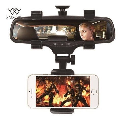 Soporte Auto Espejo Celular Gps iPhone Universal Holder 360