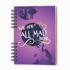 Cuaderno anillado Alicia All Mad EN STOCK hojas rayadas