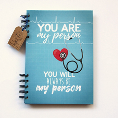 Cuaderno anillado  Grey´s  anatomy (My person) en internet