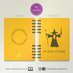 Cuaderno LOTR (You shall not pass) - comprar online