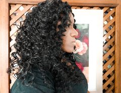 Lace Wig  WENG cacheada orgânica