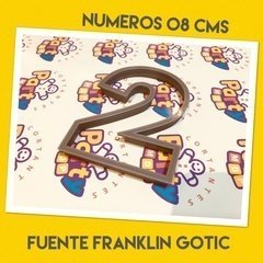 Cortante N° 2 Frankling x 8 cm - Cortantes Party