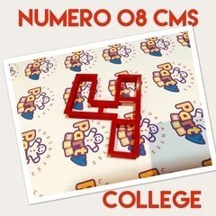 Cortante N° 4 College x 8 cm - Cortantes Party