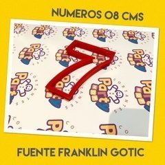 Cortante N° 7 Frankling x 8 cm - Cortantes Party