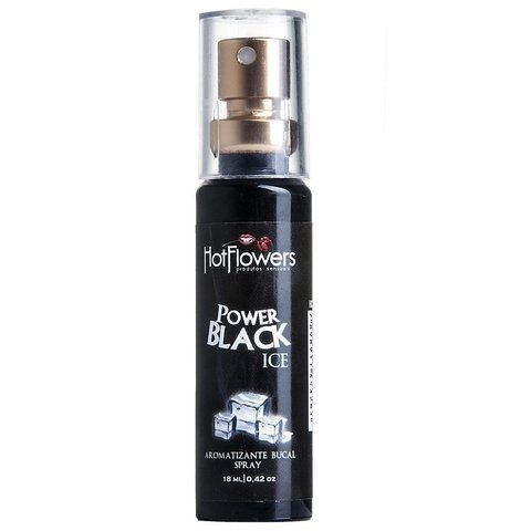 Power Black Ice Aromatizante Bucal  - Hot Flowers | sexshop | produtos eróticos | sex shop storesexy