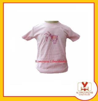 Camiseta Oriental Com Estampa Boneca Jap...
