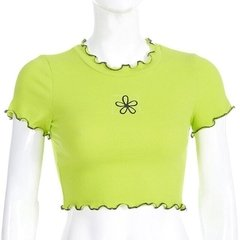 Cropped Green Flower - comprar online