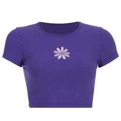 Cropped Purple Flower - comprar online