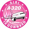 Adesivo Bolacha Airbus A320 CFM Girl in Command