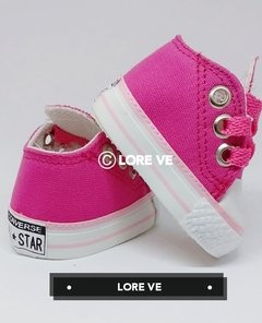 ZAPATILLAS LONA NO CAMINANTES #Fucsia - LORE VE
