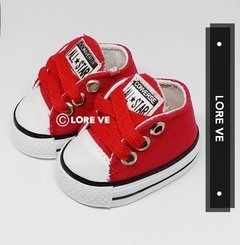 ZAPATILLAS LONA NO CAMINANTES #Roja - LORE VE