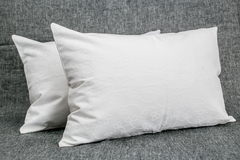 Fundas de Almohadones 40X60 Damasco blanco (x 2)