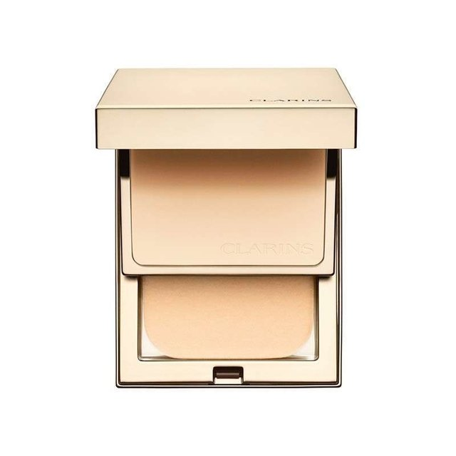 Base  Compacta Clarins Everlasting 108 Sand FPS 9 - 10g