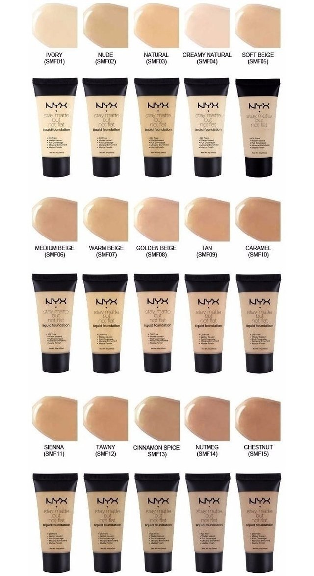 Base Liquida Nyx Stay Matte But Not Flat Smf01 Ivory - comprar online