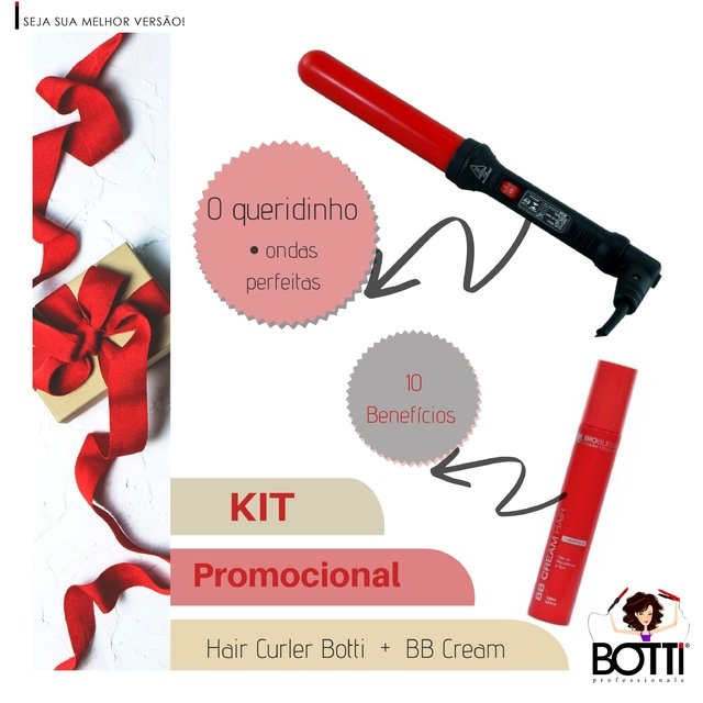 Kit Promocional Modelador de Cachos Botti Grosso 32/32mm + BB Cream Hair BioBless - comprar online