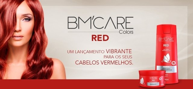 MÁSCARA CAPILAR BM'CARE COLORS RED - Barro Minas 250g - comprar online
