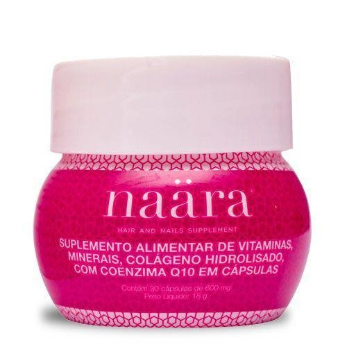 Naara Colágeno- Cápsulas Hair And Nails - Com Q-10 E Biotina - Jeunesse