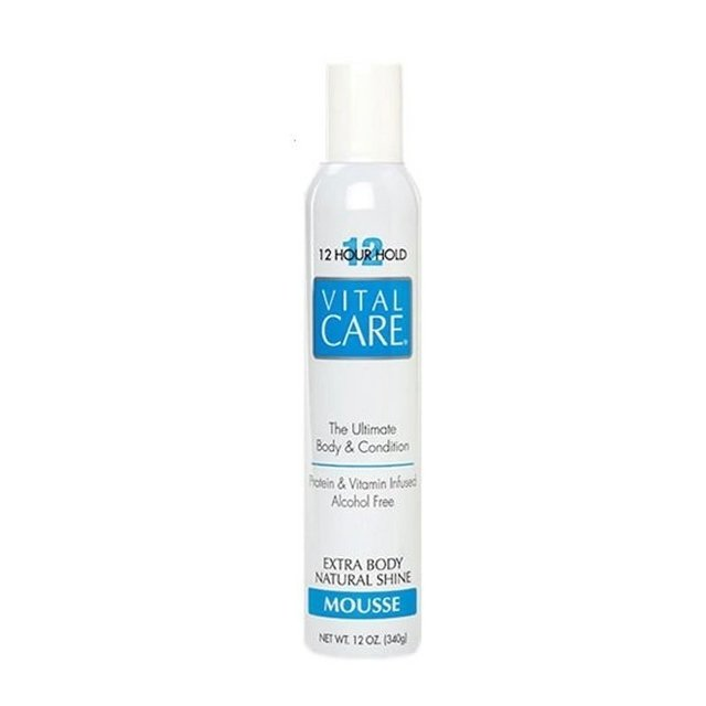 VITAL CARE - Mousse Extra Body Natural Shine 12 horas - 340g