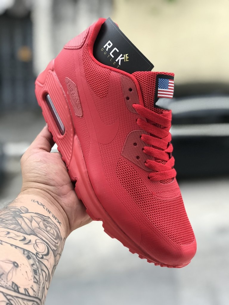 7eae88dfb53 NIKE AIR MAX 90 Independence Day Vermelho - Rck Outlet