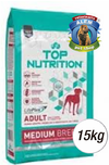 TOP NUTRITION ADULTOS RAZA MED. X 15 KG.