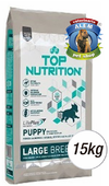 TOP NUTRITION CACHORROS RAZA GDE. X 15 KG.
