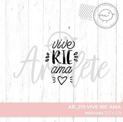 SELLO POLIMERO FLEXIBLE LINEA AR 213 VIVE RIE AMA - ARROLETE