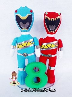Topo de Bolo Power Rangers  Dino Charge