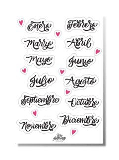 "Lámina Stickers ""Meses"""