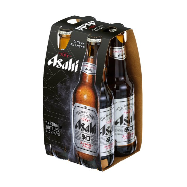Four Pack Cerveza Asahi Super Dry 330ml